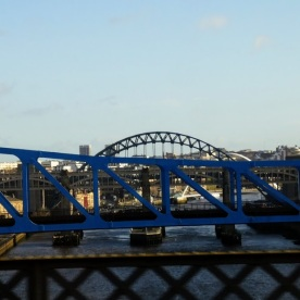 Gateshead from the train.
