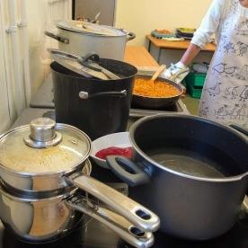 Kitchen action.