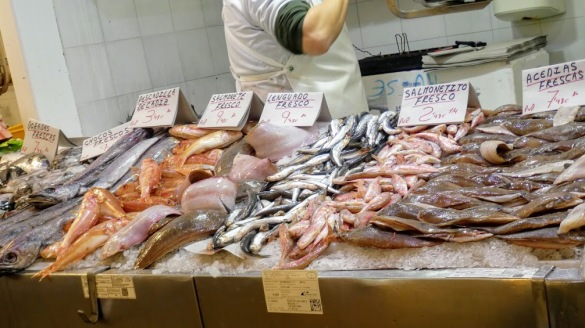 A display in the fish market.
