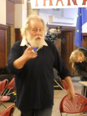 Multi-tasking Arnold. Instrumental in organising the evening. Part of The Raisers. And crucially, our Choirmaster. Also known as the Messiah.