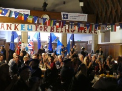 A crowded hall.