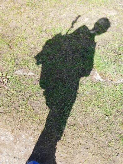 Self-portrait as shadow.