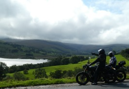 I don't know who these two bikers are. But they enjoyed the view too.