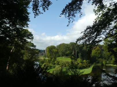 Fountains Abbey seen from Surprise View, Studley Royal.