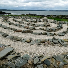 This seemingly ancient labyrinth was constructed in 1990 on a small island that develops every time the tide comes into Mossyard Bay.